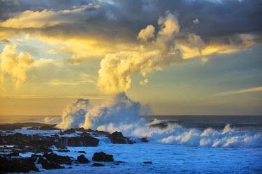 CHI9007AW South America, Chile, Easter Island, Isla de Pascua, the dramatic coastline