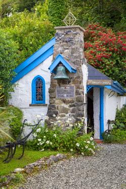 EU15BJN0161 Tiny Saint Gobban's Church in Portbraddan, County Antrim, Northern Ireland, UK