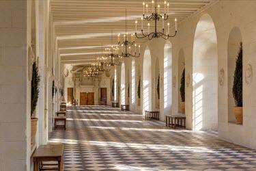 EU09BJN1828 Gallery of Chateau Chenonceau, Indre-et-Loire, Centre, France