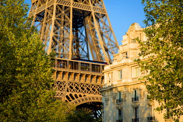 EU09BJN1833 Evening sunlight on Eiffel Tower, Paris, France