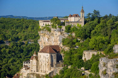 EU09BJN1843 Medieval town of Rocamadour, Lot Valley, Midi-Pyrenees, France