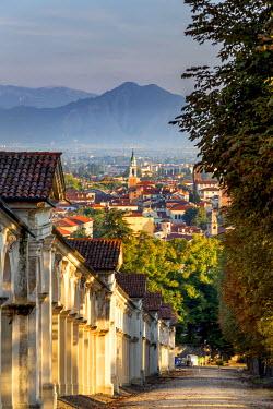 ITA5586AW Italy, Italia. Veneto. Vicenza. Monte Berico Sanctuary, the Scalette is a 192 steps staircase to the sanctuary