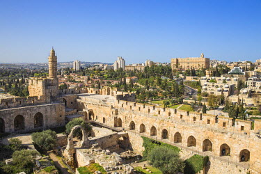 IS01755 Israel, Jerusalem, Old Town, The Tower of David also known as the Jerusalem Citadel
