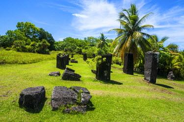 OC16MRU0038 Basalt monoliths known as Badrulchau, Island of Babeldaob, Palau, Central Pacific