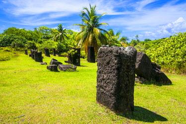 OC16MRU0040 Basalt monoliths known as Badrulchau, Island of Babeldaob, Palau, Central Pacific