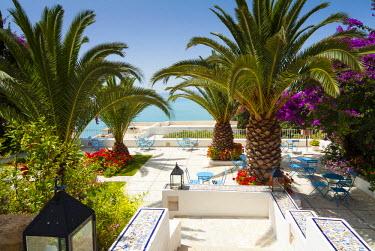 AF47NTO0014 Garden, Dar Said Hotel, Sidi Bou said, Tunisia, North Africa