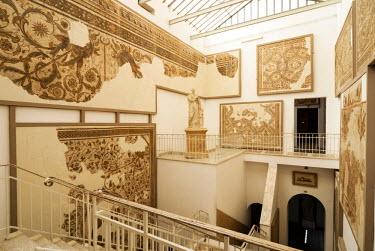 AF47NTO0019 Roman Mosaics, Bardo National Museum, Carthage, UNESCO World Heritage Site, Tunisia, North Africa