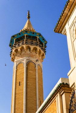 AF47NTO0023 Minaret of Youssef Dey Mosque, Tunisia, North Africa