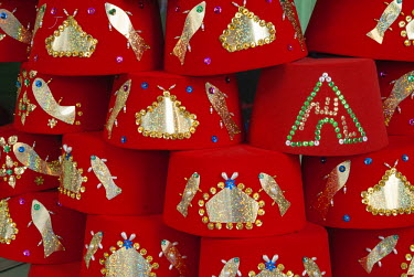 AF47NTO0024 Fez hat for sale, Tunisia, North Africa