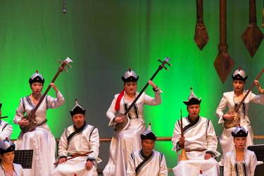 AS25EWI0061 Asia, Mongolia, Ulaanbaatar, Mongolian National song and Dance Academic Ensemble. Grand orchestra