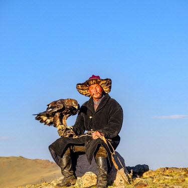AS25EWI0100 Asia, Western Mongolia, Bayan-Olgii. Suhayt, Oraz the Eagle hunter