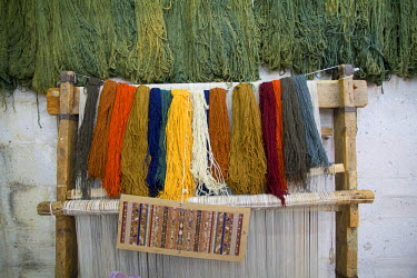 AS37EWI0050 Turkey, Cappadocia, Nevsehir, Urgup. Turkish Carpet weaving is one of the oldest professions in the world.