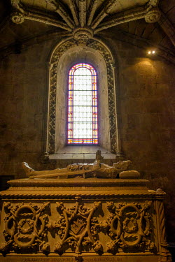 EU23EWI0238 Portugal, Belem. Jeronimos monastery. Vasco da Gama's tomb. UNESCO World Heritage Site