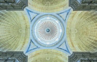 EU23RTI0082 Portugal, Lisbon, Alfama, National Pantheon (Panteao Nacional) Ceiling