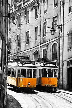 EU23TEG0150 Portugal, Lisbon. Famous Old Lisbon Cable Car