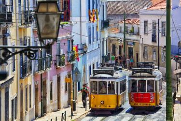 EU23TEG0163 Portugal, Lisbon. Famous Old Lisbon Cable Car