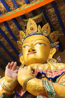 IND8025 Buddhist statue, Leh Gompa, Indus Valley