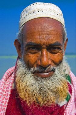 AS03MRU0061 Portrait of an old Bengali man, Bangladesh, Asia