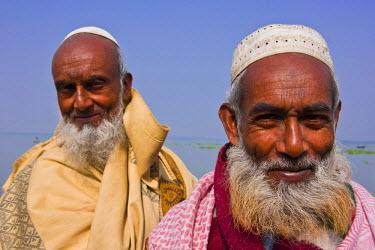 AS03MRU0062 Portrait of old Bengali men, Bangladesh, Asia