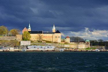 NOR0851AWRF Akershus Fortress (Akershus Festning), an iconic guardian of Oslo. Norway