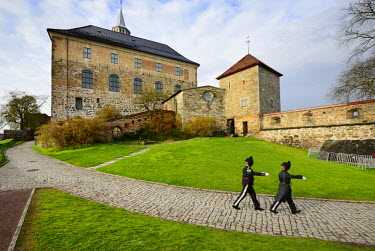 NOR0812AW Akershus Fortress (Akershus Festning), an iconic guardian of Oslo. Norway