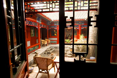 HMS0217348 China, Beijing, the Red Capital Residence is a five-suite courtyard house in a traditional hutong and a homage to Maoist chic and revolutionary kitsch, intimate and friendly