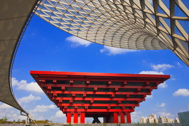 HMS0492257 China, Shanghai, Pudong Park Expo 2010, the China pavilion in Area A, designed by architect He Jingtang