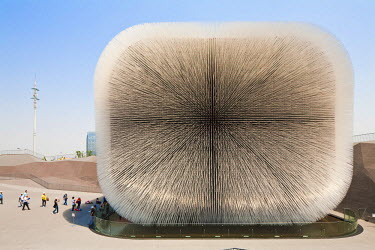 HMS0508329 China, Shanghai, Pudong, Expo 2010 Shanghai China park with 73 millions visitors, UK pavilion made of 60,000 stems by architect Katerina Dionysopoulou of Heatherwick Studios