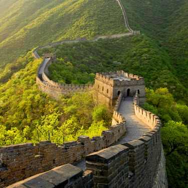 HMS0899089 China, near Beijing, Great Wall of China listed as World Heritage by UNESCO, Mutianyu section