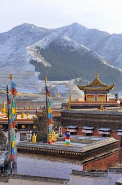 HMS0909695 China, Gansu Province, Amdo, Xiahe, Monastery of Labrang (Labuleng Si)