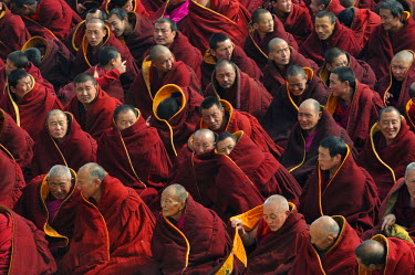 HMS0909711 China, Gansu Province, Amdo, Xiahe, Monastery of Labrang (Labuleng Si), Losar (New Year festival)