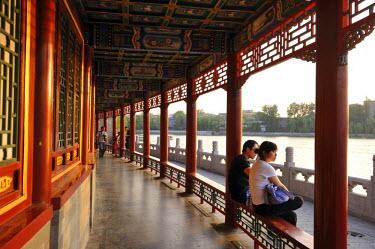 HMS1713561 China, Beijing, Inner City, Qiong hua Island in the Beihai parc