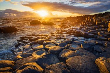 IRL0478AWRF Giant's Causeway, County Antrim,  Ulster region, northern Ireland, United Kingdom. Iconic basalt columns.