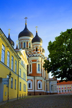 EU35BJY0001 Estonia, Tallinn. View of Alexander Nevsky Cathedral