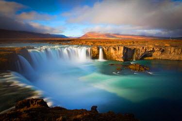 CLKMF39483 Europe, Iceland,Region Nordurland eystra, Godafoss waterfall.