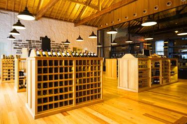 POR8932AW Portugal, Douro Litoral, Porto. The shop at Graham's Port Lodge.