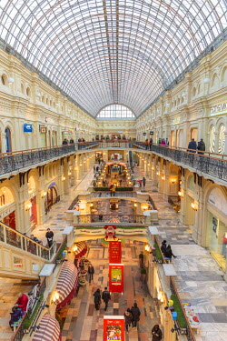 CLKFV40942 Russia, Moscow, Red Square, Gum Department Store, Interior