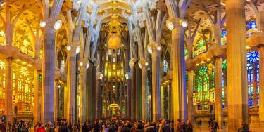 CLKFV38969 Spain, Barcelona, Sagrada Familia, Interior