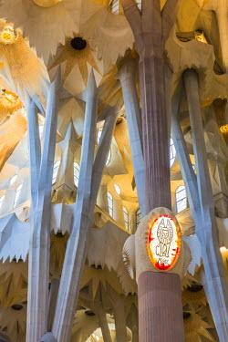 CLKFV38984 Spain, Barcelona, Sagrada Familia, Interior