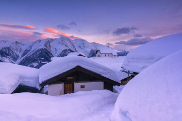 Bettmeralp at Sunset, canton Valais, Switzerland.