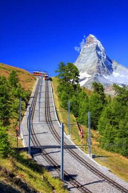 CLKRM40092 The Gornergrat Bahn train, Zermatt, Valais Switzerland