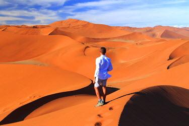 NB01129 Namibia, Namib Naukluft National Park, Sossussvlei Sand Dunes