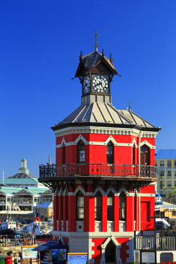 SA01197 South Africa, Western Cape, Cape Town, V&A Waterfront, Historic Clocktower