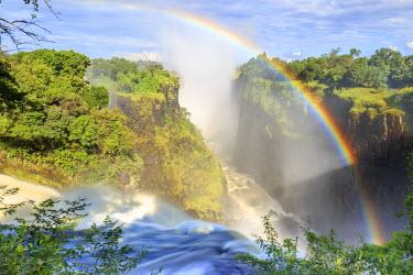 ZM01013 Zimbabwe, Victoria Falls, Victoria Falls National Park during rainy season (UNESCO Site)