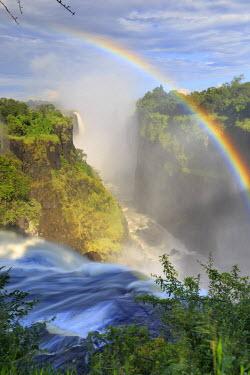 ZM01014 Zimbabwe, Victoria Falls, Victoria Falls National Park during rainy season (UNESCO Site)