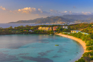GN01055 Caribbean, Grenada, Morne Rouge Beach, Grand Anse Bay beyond