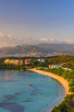 GN01056 Caribbean, Grenada, Morne Rouge Beach, Grand Anse Bay beyond
