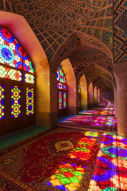 IR01227 Iran, Central Iran, Shiraz, Nasir-al Molk Mosque, interior