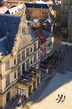 BEL1301AW Belgium, Flanders, Ghent (Gent). Municipal theatre building, Royal Dutch Theatre built in 1899, on Sint-Baafsplein.