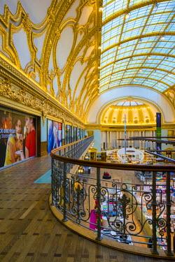 BEL1333AW Belgium, Flanders, Antwerpen. Stadsfeestzaal shopping mall in neoclassical building dating from 1908.
